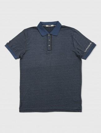 Rex straut solid blue t-shirt