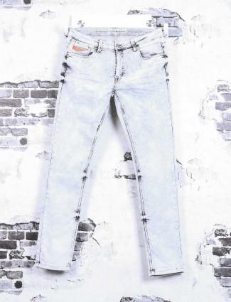 Rex Straut white blue jeans