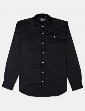 River Blue black cotton shirt