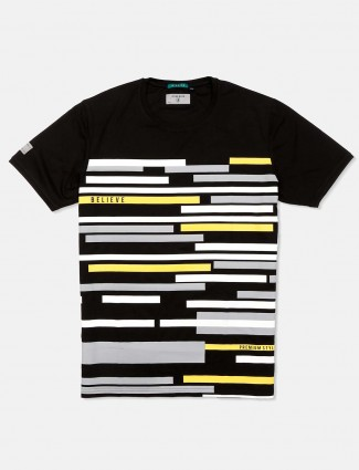 River Blue black stripe cotton t-shirt