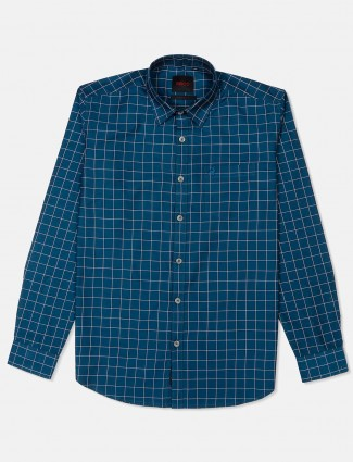 River Blue cotto blue checks shirt