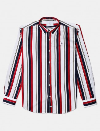 River Blue cotton stripe red and navy shirt