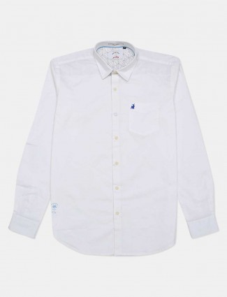 River Blue full buttoned placket white casual shirt