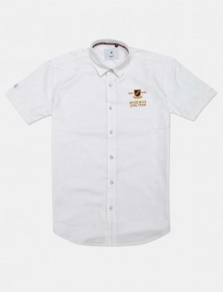 River Blue full buttoned placket white shirt