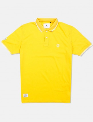 River Blue lemon yellow solid t-shirt