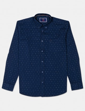 River Blue navy cotton shirt