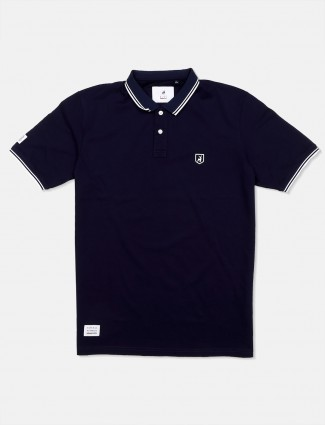River Blue navy solid cotton t-shirt