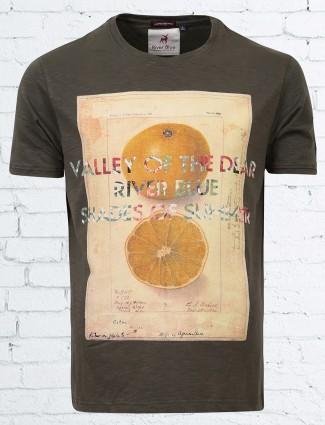 River Blue olive slim fit t-shirt