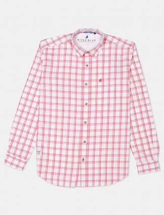 River Blue pink checks cotton shirt