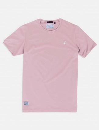 River Blue pink cotton cotton t-shirt