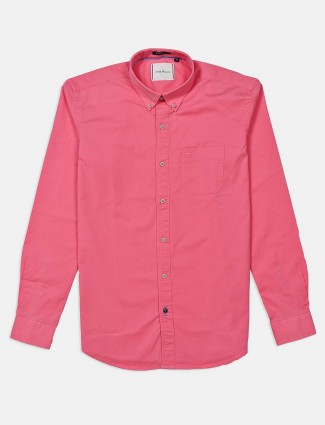 River Blue pink solid casual shirt