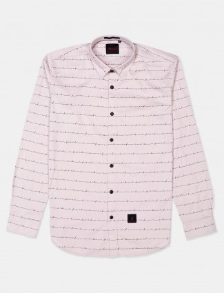 River Blue pink stripe cotton shirt