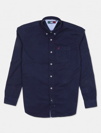 River Blue presented dark navy solid shirt