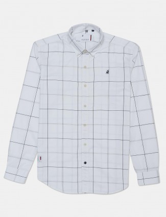 River Blue presented white checks shirt for mens