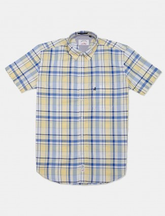 River Blue presented yellow shirt for mens