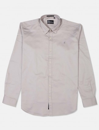 River Blue simple grey casual wear shirt