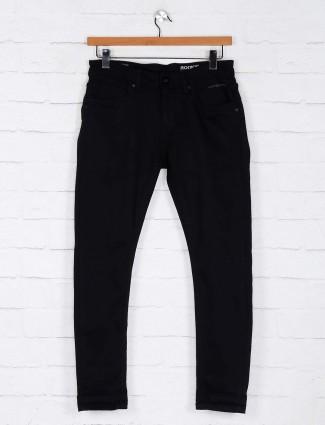Rookies solid black regular jeans