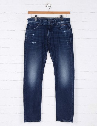 Rookies washed navy slim fit jeans