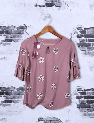 Rose pink cotton top