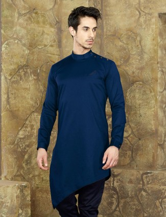 Royal blue color short kurta