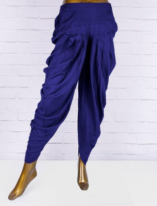 Royal blue hue cotton fabric dhoti
