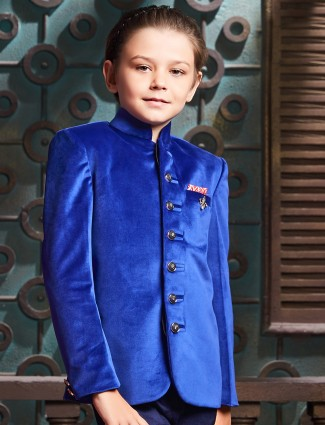 Royal blue jodhpuri suit for boys