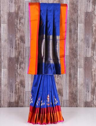 Royal blue MP silk saree