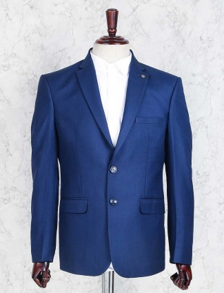 Royal blue plain coat suit