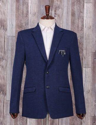 Royal blue terry rayon blazer