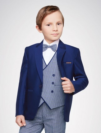 Royal blue tuxedo suit for boys