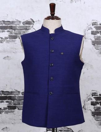 Royal blue waistcoat