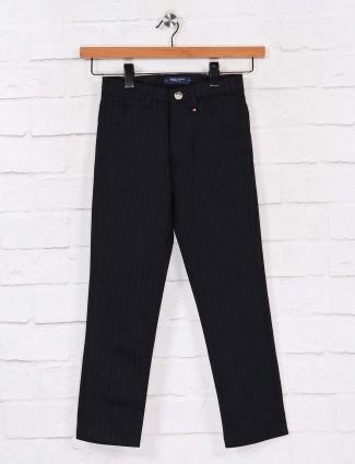 Ruff black cotton slim fit trouser