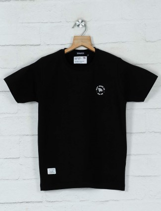 Ruff casual black cotton t-shirt