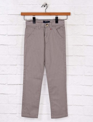 Ruff cotton casual wear stripe grey trouser