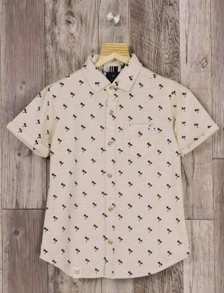 Ruff cream printed shirt