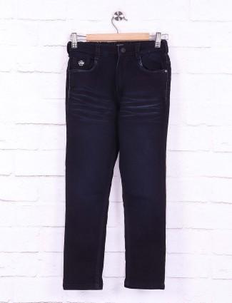 Ruff dark navy whiskers effect nerrow jeans