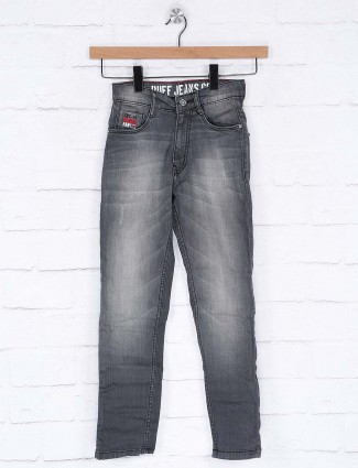 Ruff denim washed grey hue jeans