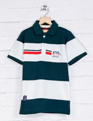 Ruff green and white stripe t-shirt