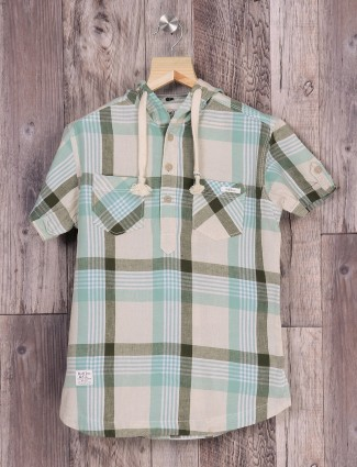 Ruff light green cotton shirt