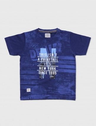 Ruff navy printed t-shirt