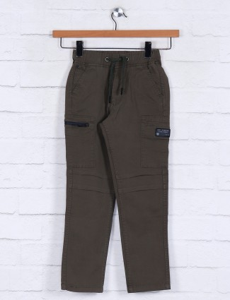 Ruff olive casual jeans for boys