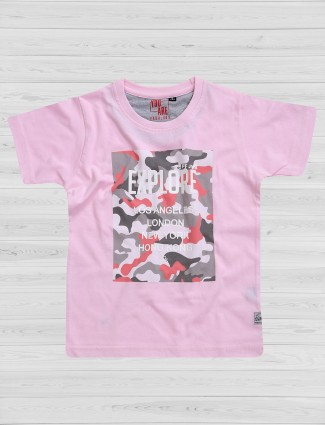 Ruff pink cotton t-shirt
