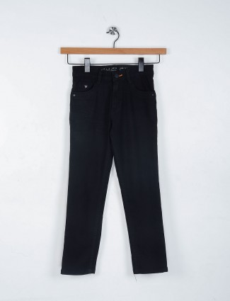 Ruff plain black color jeans