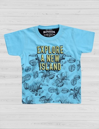 Ruff printed sky blue t-shirt