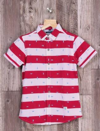 Ruff red and white stripe shirt