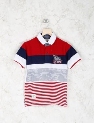 Ruff red hue stripe t-shirt