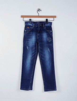 Ruff royal blue denim casual jeans