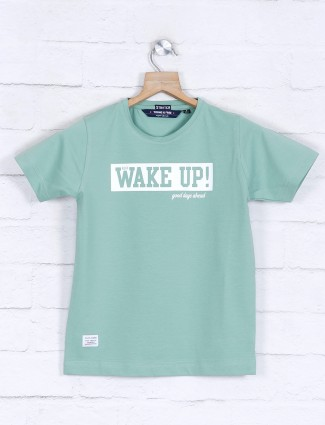 Ruff sea green printed t-shirt