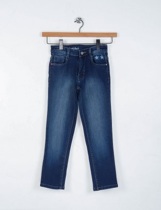 Ruff simple navy hue denim jeans