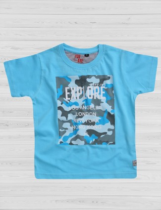 Ruff sky blue casual t-shirt